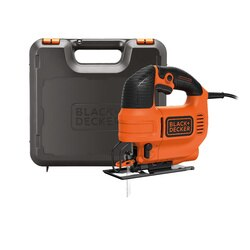 BLACK+DECKER - 520W Pendul Stiksav variabel hastighed med savklinge og kuffert - KS701PEK