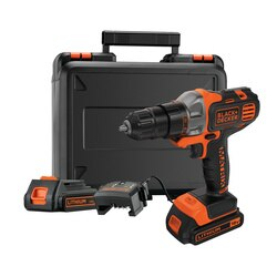 BLACK+DECKER - 18V Bore Skruemaskine Multievo  incl 2 batterier - MT218KB
